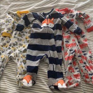 Baby Boy Fleece PJ Bundle